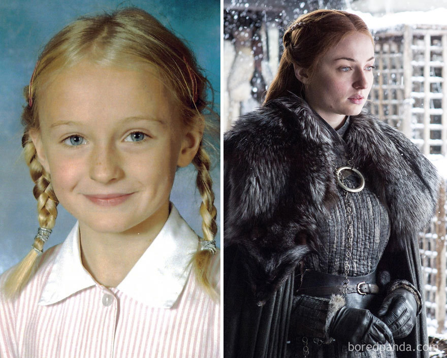 Sophie Turner When She Was A Child And As Sansa Stark (In GoT)