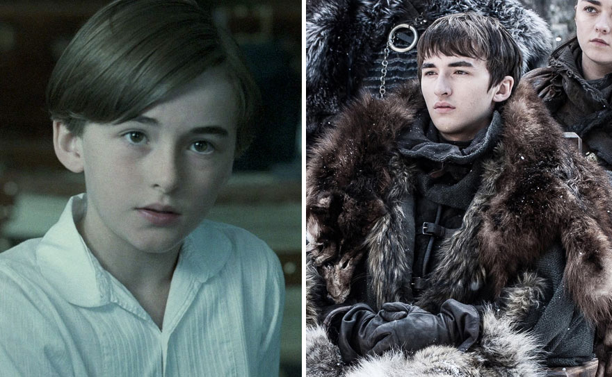 Isaac Hempstead Wright As Tom Hill (In 2011's The Awakening) And As Bran Stark (In GoT)