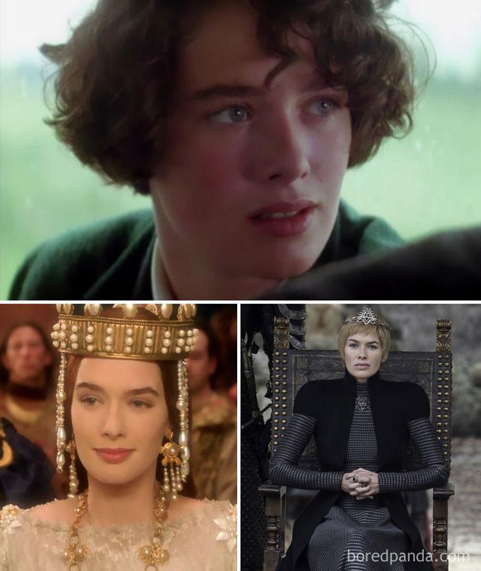 Lena Headey como Joven Mary (El país del agua, 1992), como Ginebra (Merlín, 1998) y como Cersei Lannister