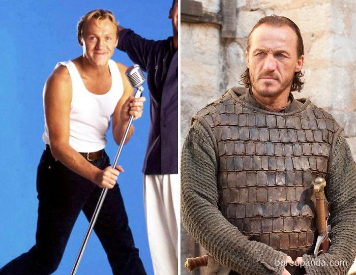 Jerome Flynn de joven y como Bronn