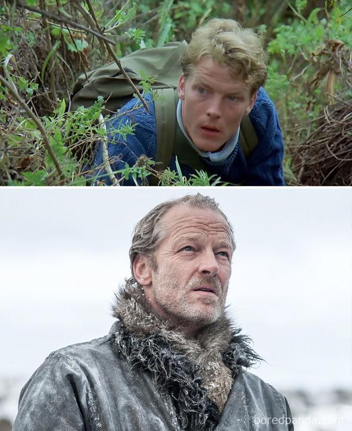 Iain Glenn como Brendan (Gorilas en la niebla, 1988) y como Ser Jorah Mormont