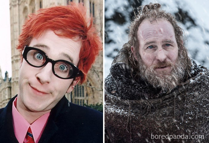 Paul Kaye As Dennis Pennis (in 1995's Anyone For Pennis) And As Thoros Of Myr (in Got)