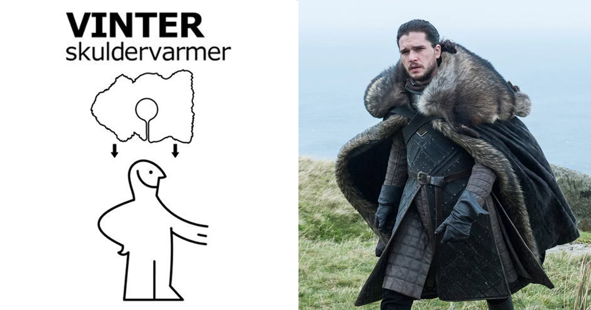IKEA Releases Instructions How To Make ?Game Of Thrones? Cape After Costumer Reveals Actors Wore IKEA Rugs