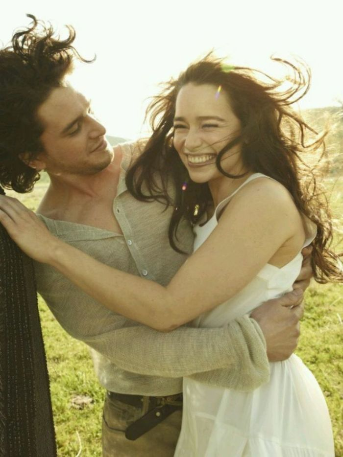 This Photoshoot Of Emilia Clarke And Kit Harington Kissing