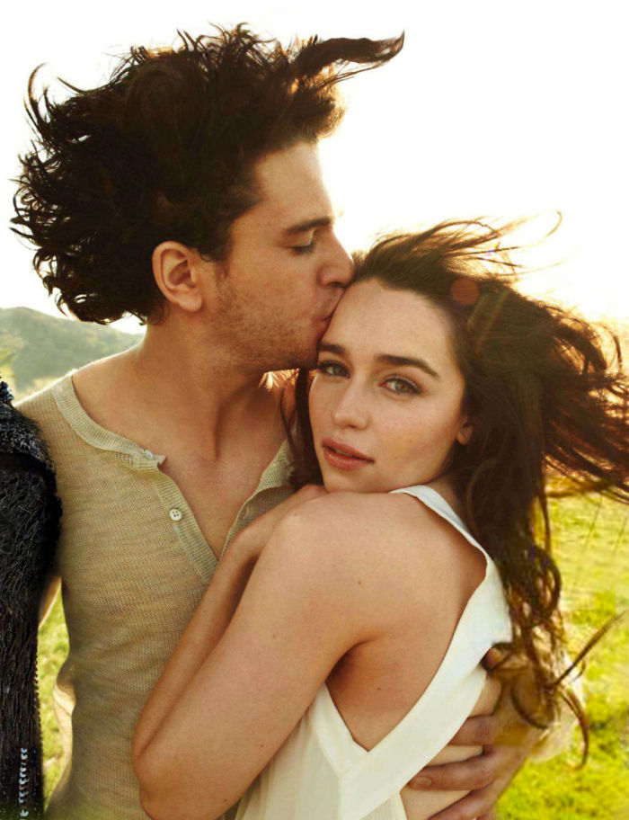 this photoshoot of emilia clarke and kit harington kissing is going viral and we all know what. Black Bedroom Furniture Sets. Home Design Ideas