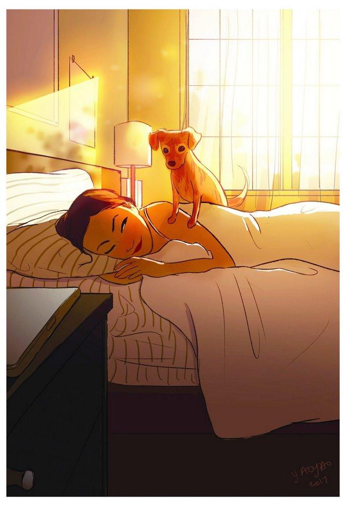 Despertarte con tu perro