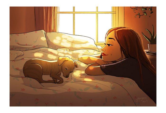 Estar junto a tu perro