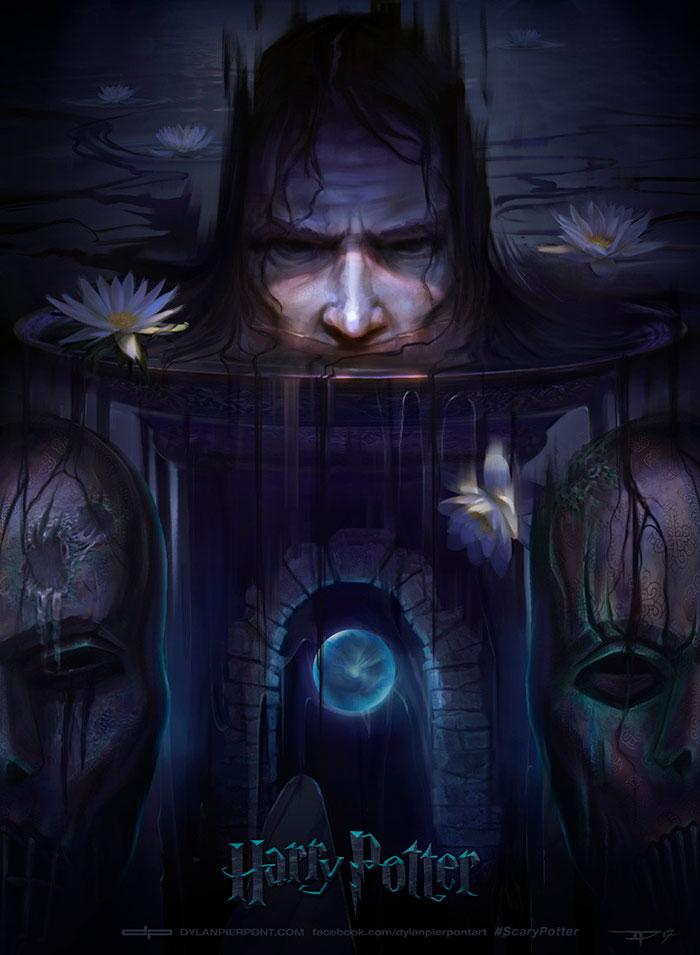 harry-potter-redrawn-dark-covers-dylan-pierpont-5