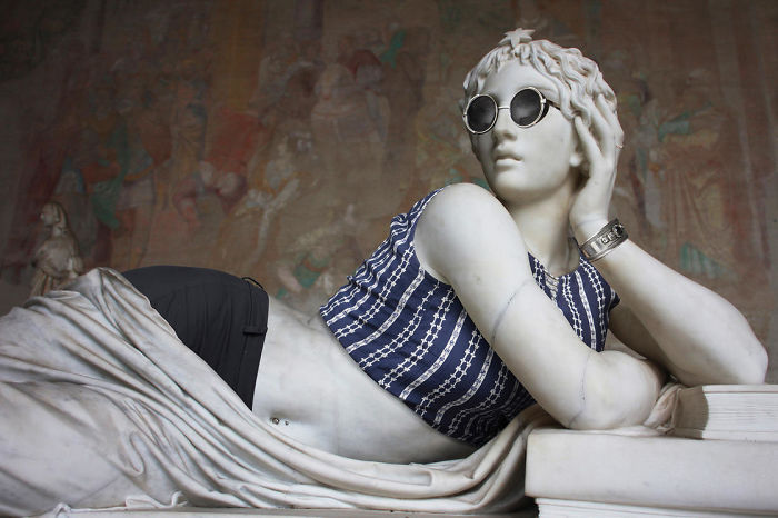 Classic Sculptures Get Dressed In Modern Clothes For 'Hipsters In Stone' Project