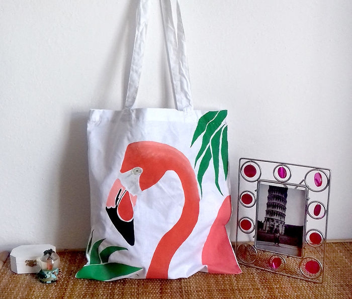 I Paint Animals On Tote Bags Because I Love It!