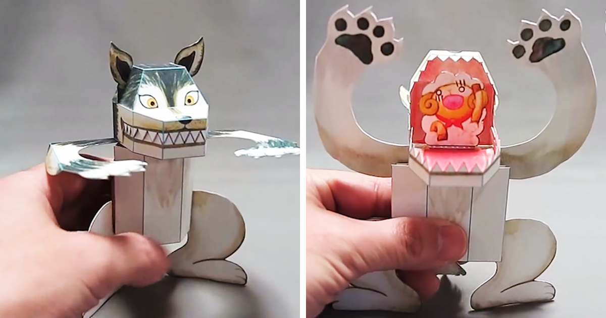 Japanese Paper Toys With A Surprise