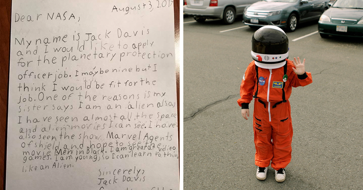 9-Year-Old Applies For Job At NASA, And Here?s How NASA Responds