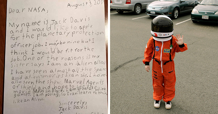 9-Year-Old Applies For Job At NASA, And Here's How NASA Responds