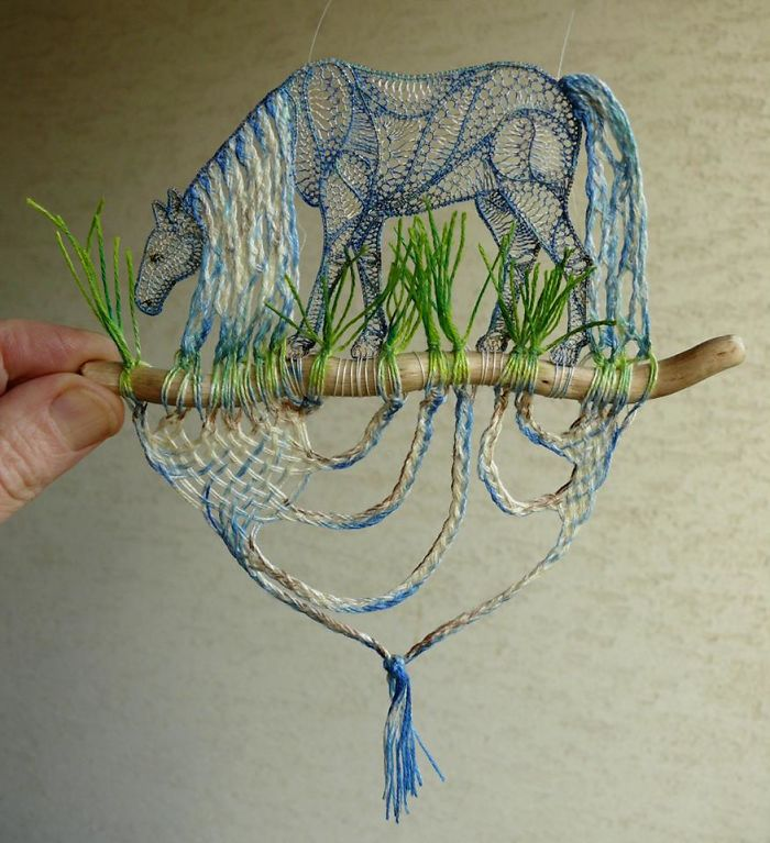 Lace Embroidery Sculpture