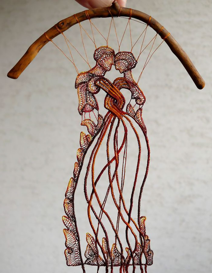 Lace-embroidery-art-sculpture-agnes-herczeg