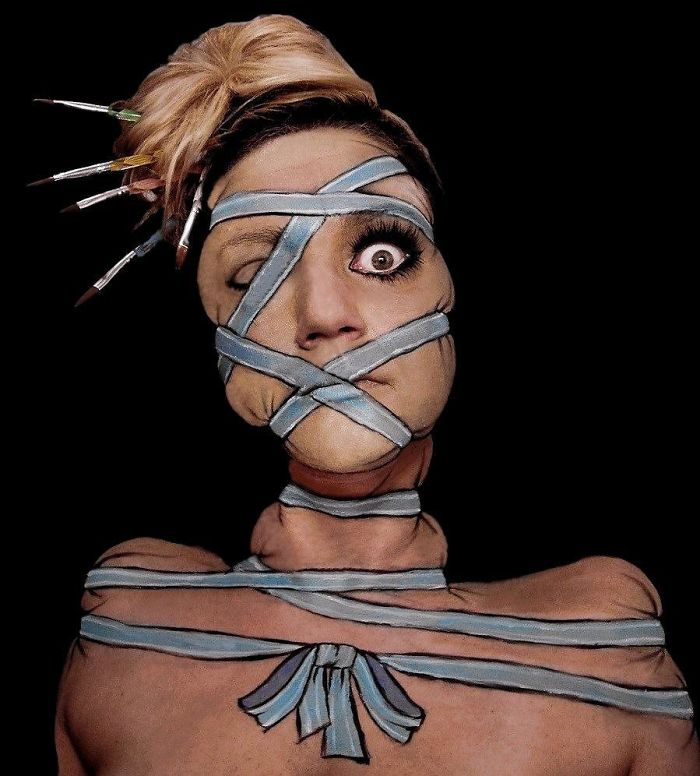 Tied Up Makeup /body Painting /land Of Twisted
