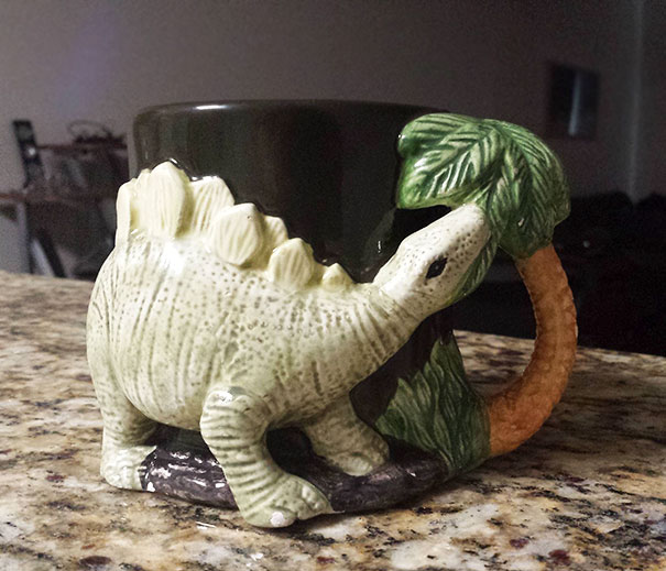 My Old Stegosaurus Coffee Mug. Had Lost It For Years Until My Mom Found It And Surprised Me With Eggnog Served In It On Thanksgiving