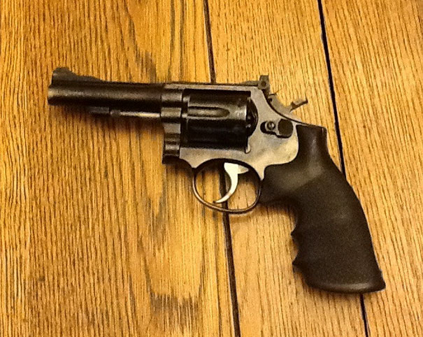 My Step Moms Gift To My Dad: His Original Gun That He Used When He Had Fallen In The Line Of Duty. It has Been Stolen, Pawned, Sold To Multiple People, And Lost For Years. Finally Got Back To The Rightful Owner