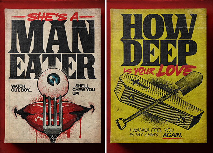 Brazilian Illustrator Reimagines Famous Love Songs As Creepy Book Covers By Stephen King