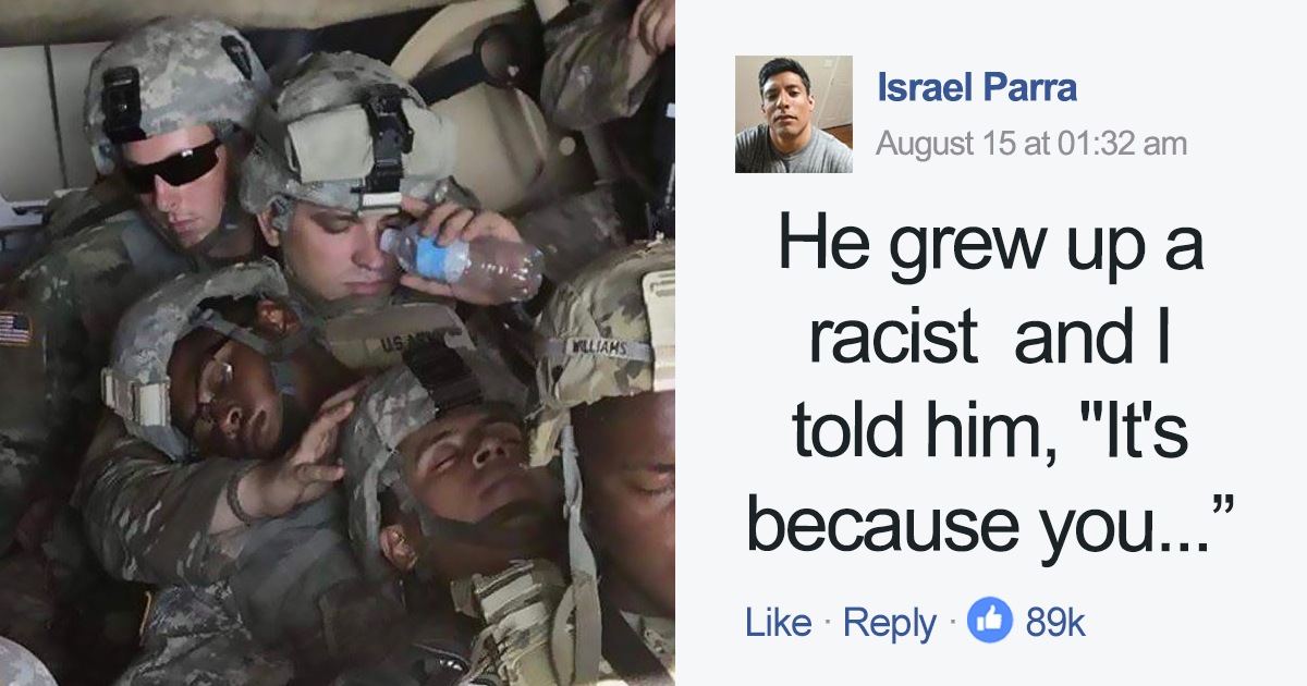 Man Who Hated Blacks And Mexicans Joins Army, Months Later Has This Conversation With Mexican-American