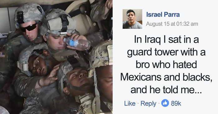 Man Who Hated Blacks And Mexicans Joins Army, And His Conversation With Mexican Fellow Soldier Goes Viral