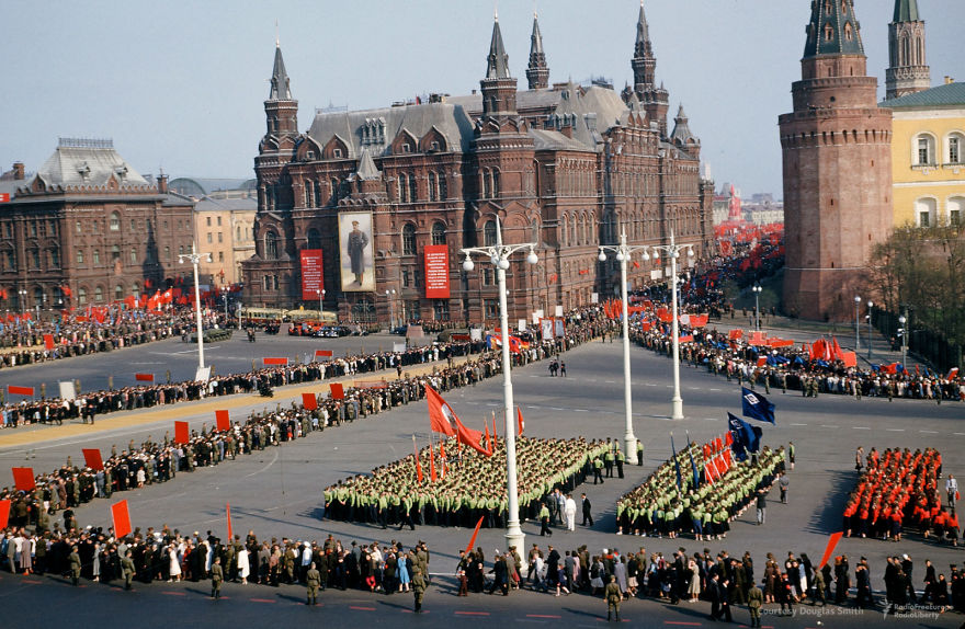 A Parade Under The Walls Of The Kremlin