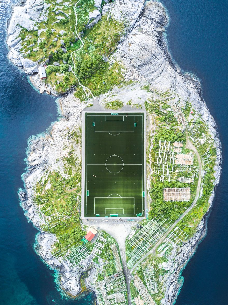 Third Place Winner, Cities: Henningsvær Football Field, Henningsvær, Nordland, Norway