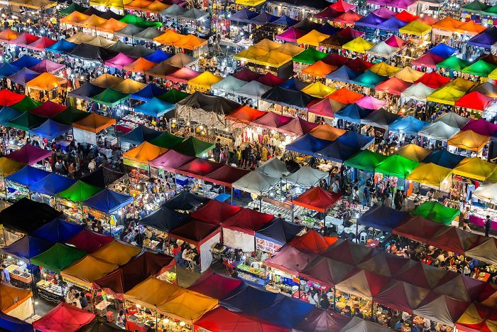 People's Choice Winner, Cities: Colorful Market, Bangkok, Thailand