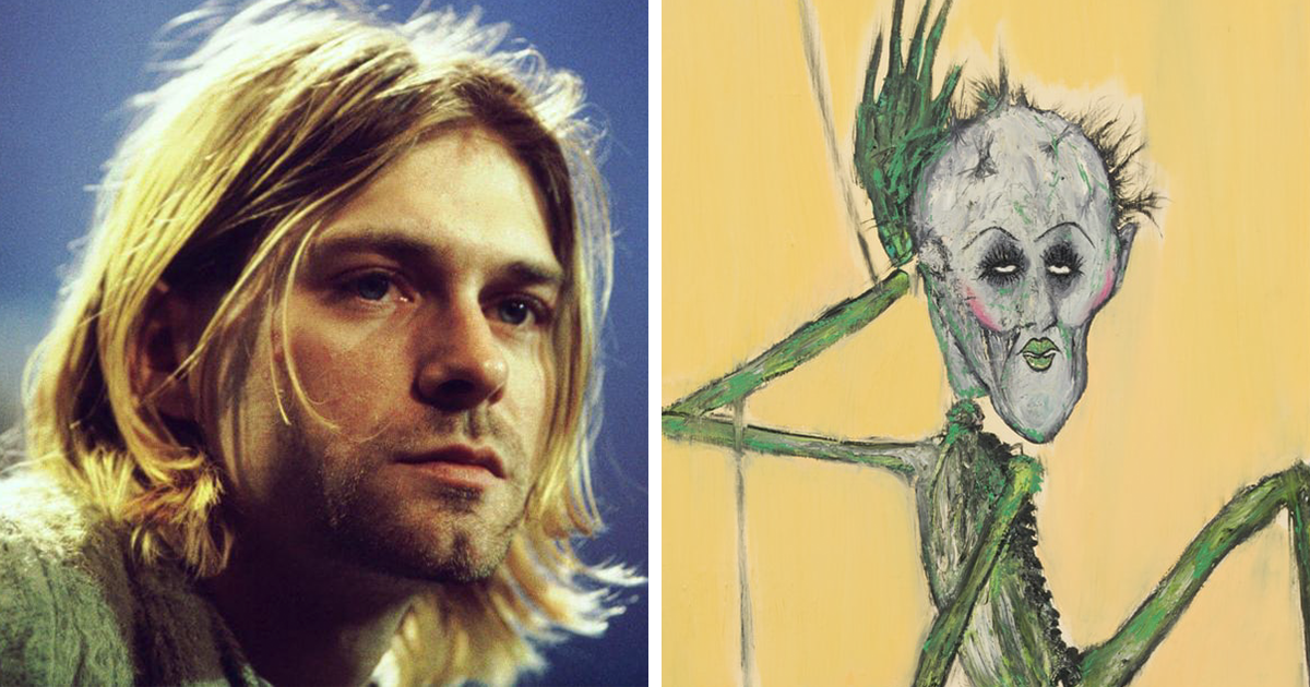 Never-Before-Seen Kurt Cobain Paintings That Reveal New Dimensions Of His Personality