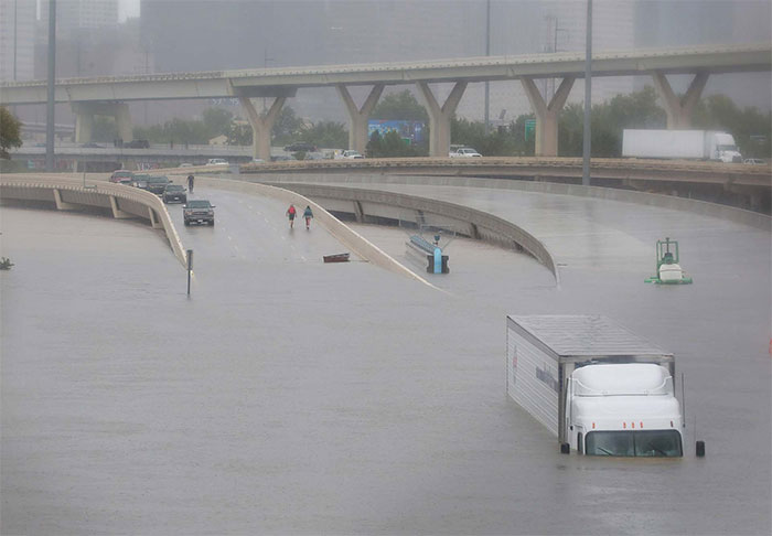 Interstate Highway 45 Is Submerged In Houston