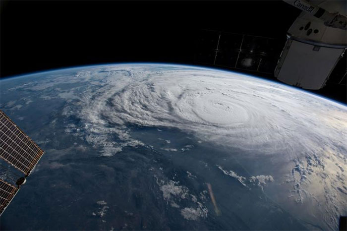 Hurricane Harvey Is Pictured Off The Coast Of Texas