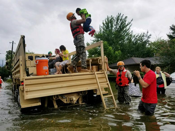 Texas National Guard Soldiers Aid Residents In Heavily Flooded Areas In Houston