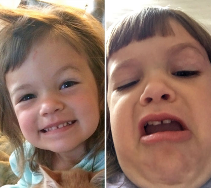 Found 48 Selfies My Daughter Took Of Herself In My Phone, And Realized She Fits In Well Here