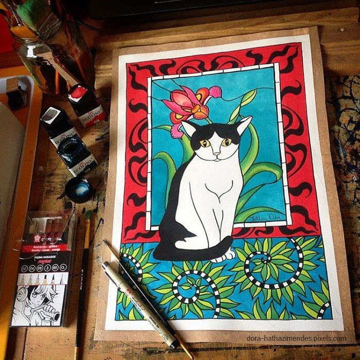 My Ever Growing Cat Art Collection