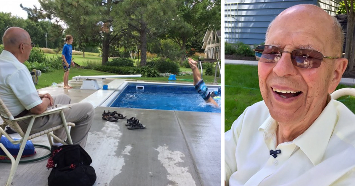 94-Year-Old Retired Judge Builds Pool For Neighborhood Kids So He Wouldn't Feel Alone After His Wife Died