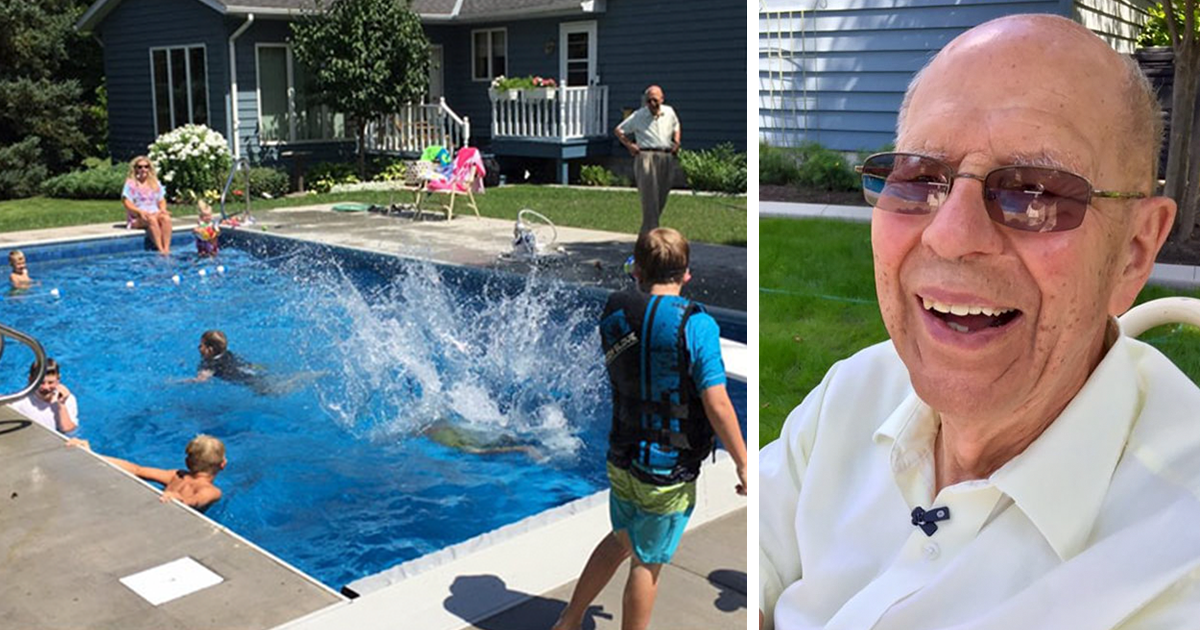 94-Year-Old Man Builds Pool In His Backyard For Neighborhood Kids So He Wouldn?t Be Lonely After Wife Died