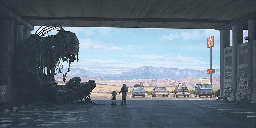 scifi-girl-robot-traveling-artbook-simon-stalenhag-39