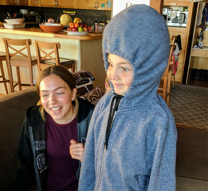 """My Daughter's Invention For Her School's Mini Maker Fair Was A """"Hoodie Pillow"""""""