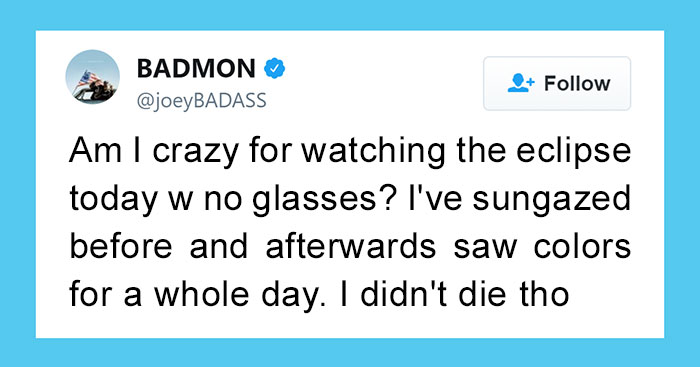 Rapper Says That He Won't Go Blind By Looking Directly At Solar Eclipse, Regrets It Immediately