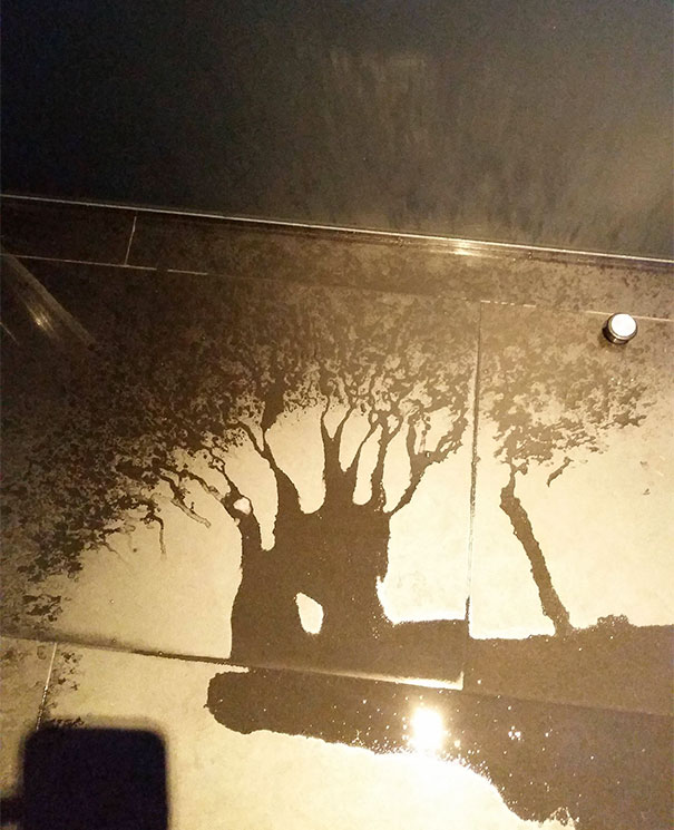 The Way This Water Spilled Looks Like A Tree