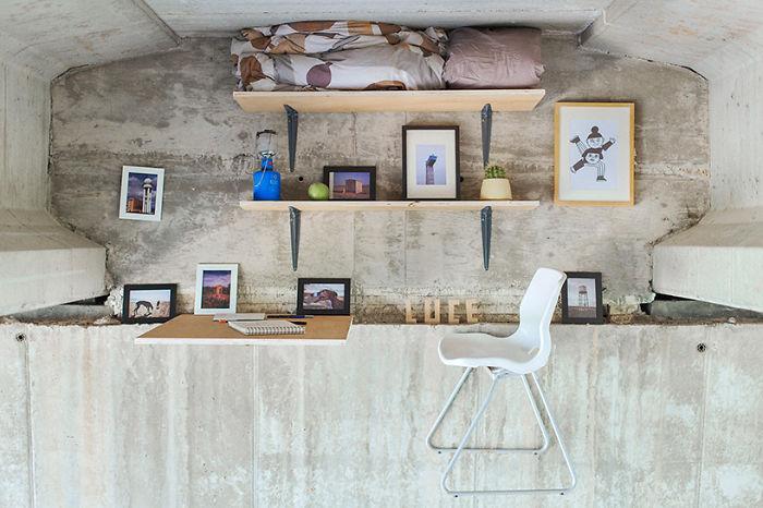 Köprü altına inşa edilen gizli stüdyo!