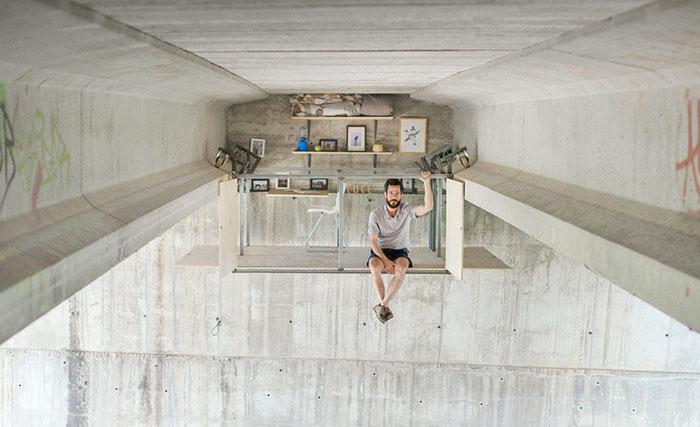 Designer Stuns Everyone In The World By Building A Secret Studio Beneath A Busy Bridge In Valencia
