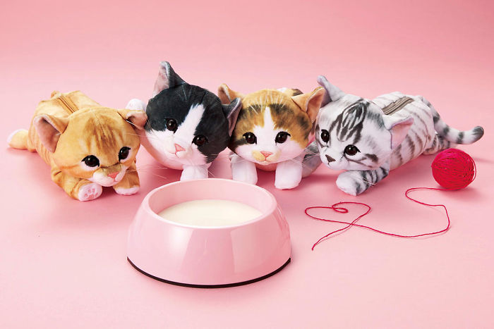 Japan's Cuddly Kitten Bags Will Fill Your Heart With Love Because You Will Fill Them With Other Things