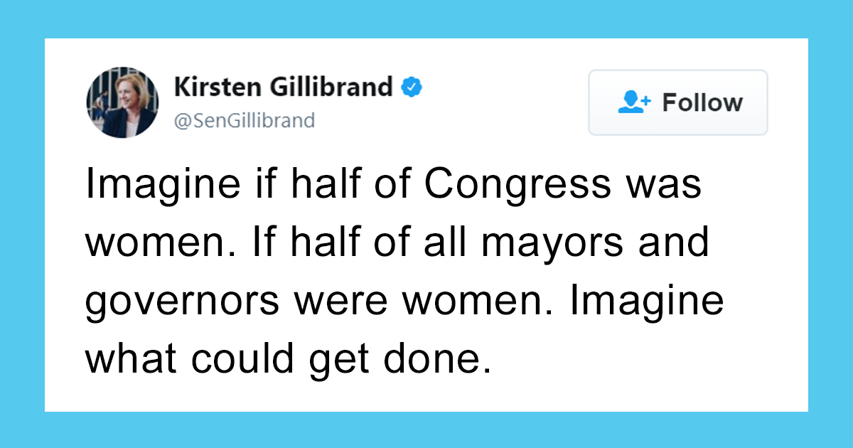 Female Senator Says 50% Of Congress Should Be Women, And This Guy's Comeback Goes Viral