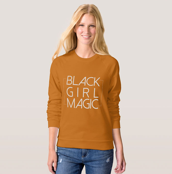 a76f7549 Company Uses White Models To Sell 'Black Girl Magic' T-Shirts, And ...