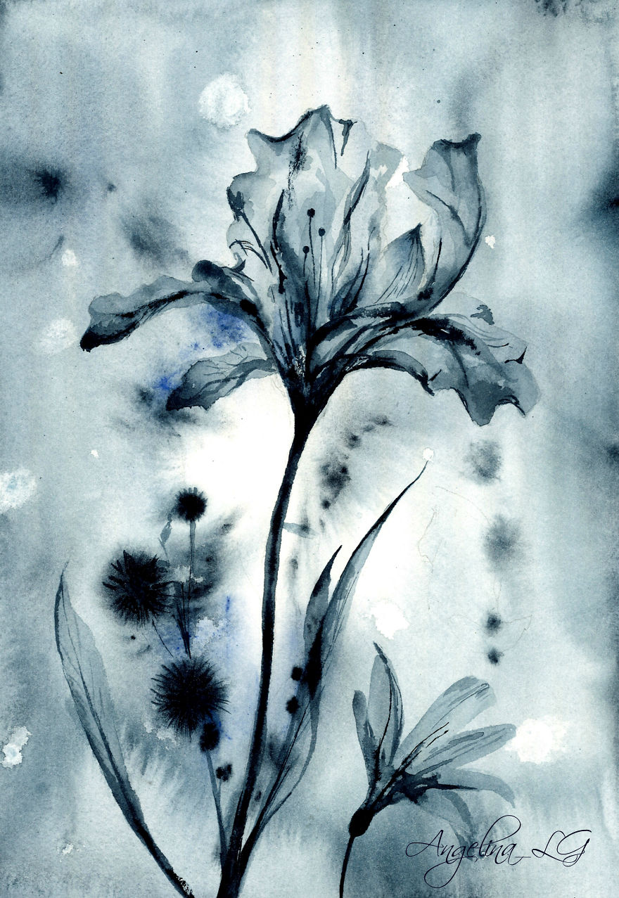 Radiography In My Watercolor Paintings