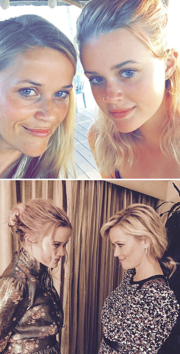 Actress Reese Witherspoon (41) And Her Daughter Ava Phillippe