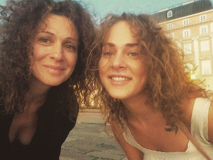 Russian Acctress Xenia Rappoport With Her Daughter