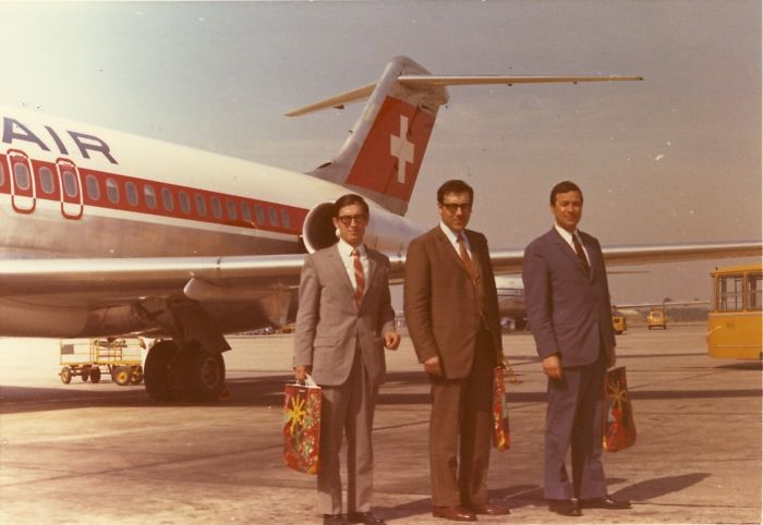 My Dad (Centre) In Switzerland For An Ibm Technical Conference In The 60s