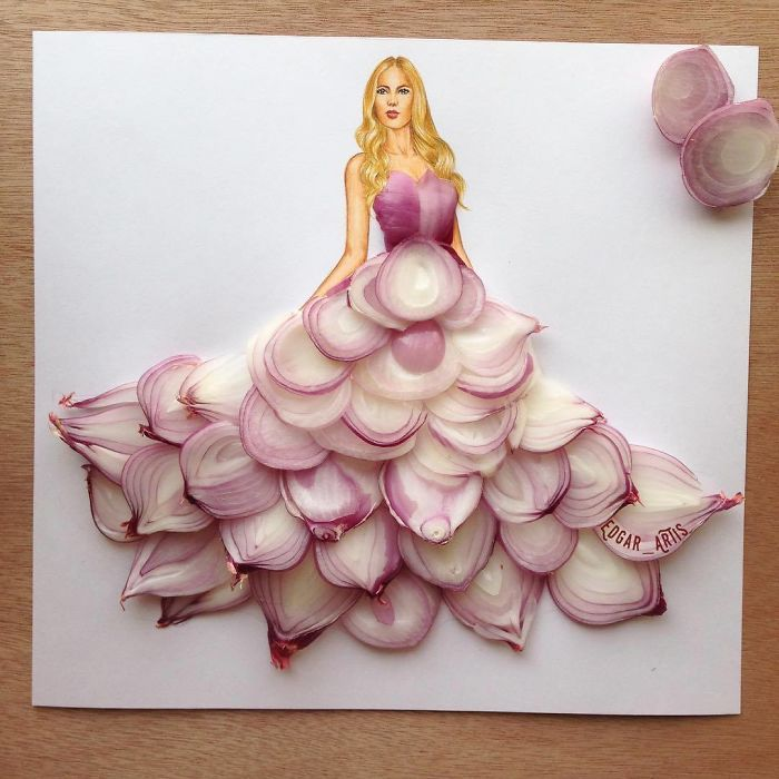 Amazing Draw Girls Dresses From Daily Items